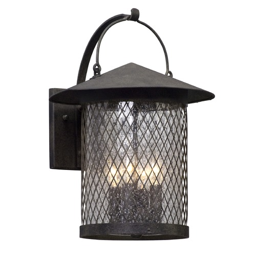 Troy Lighting Seeded Glass Outdoor Wall Light Iron Troy Lighting B5173