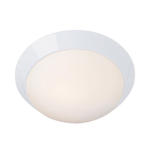 Access Lighting Modern Flushmount Light with White Glass in White Finish 20625-WH/OPL