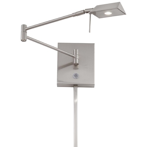 George Kovacs Lighting Modern LED Swing Arm Lamp in Brushed Nickel Finish P4318-084