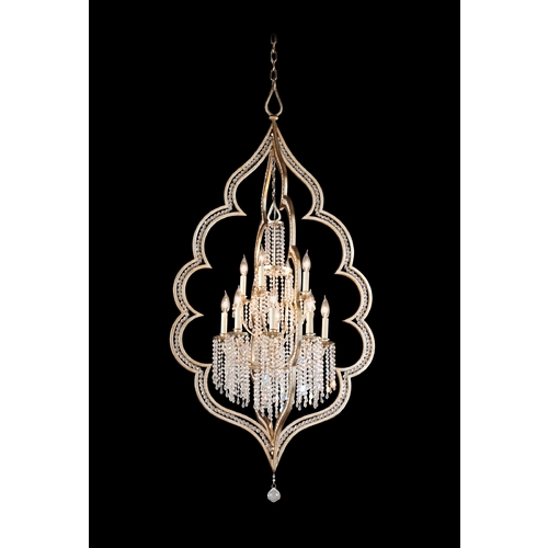Corbett Lighting Corbett Lighting Bijoux Silver Leaf with Ant Island Light 161-412