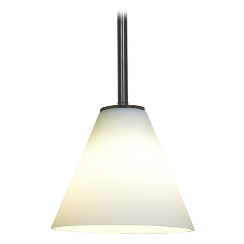 Access Lighting Modern Mini-Pendant Light with White Glass 28004-1R-ORB/WHT