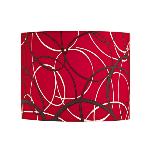 Design Classics Lighting Red and Grey Drum Lamp Shade with Spider Assembly SH9518