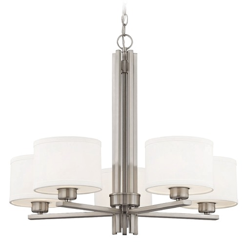 Dolan Designs Lighting Dolan Designs Tecido Satin Nickel Chandelier 2970-09