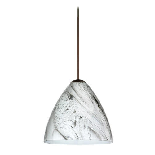 Besa Lighting Besa Lighting Mia Bronze Mini-Pendant Light with Bell Shade 1XT-1779MG-BR