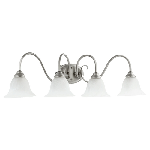 Quorum Lighting Quorum Lighting Spencer Classic Nickel Bathroom Light 5110-4-64