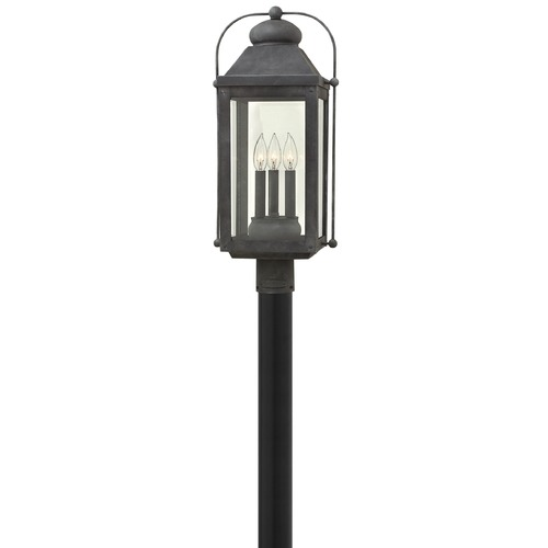Hinkley Lighting Hinkley Lighting Anchorage Aged Zinc Post Light 1851DZ