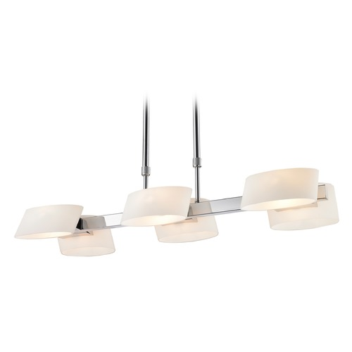 Golden Lighting Golden Lighting Clio Chrome Pendant Light with Cylindrical Shade C130-06-CH-OP