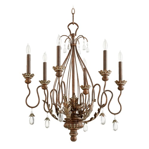 Quorum Lighting Quorum Lighting Venice Vintage Copper Chandelier 6344-6-39