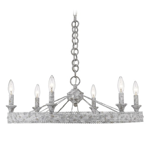 Golden Lighting Golden Lighting Ferris Oyster Chandelier 7856-6OY
