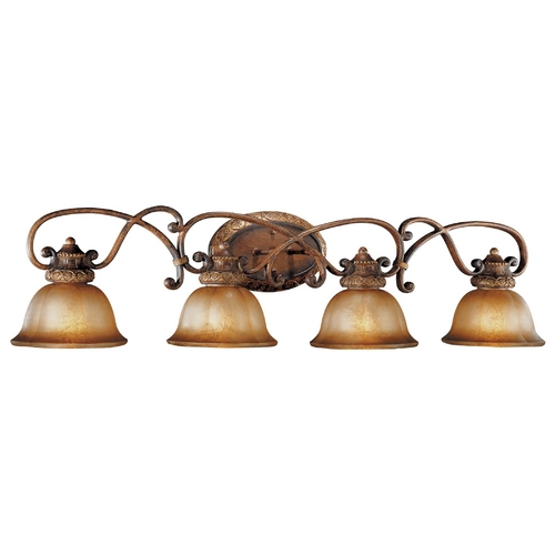 Minka Lavery Bathroom Light with Brown Glass in Illuminati Bronze Finish 6354-177