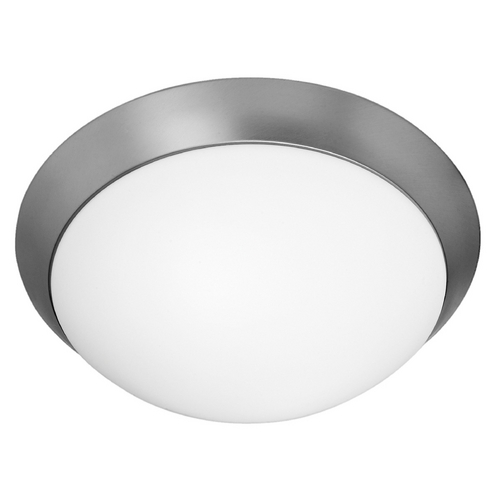 Access Lighting Modern Flushmount Light with White Glass in Brushed Steel Finish 20626-BS/OPL