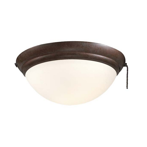 Minka Aire Light Kit with White in Oil Rubbed Bronze Finish K9373-L-ORB
