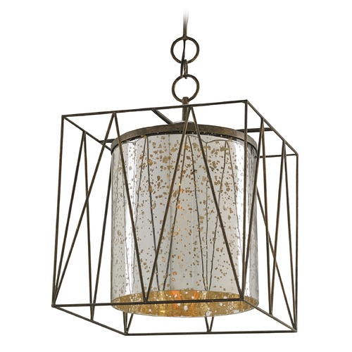 Currey and Company Lighting Currey and Company Lighting Marmande Cupertino Pendant Light with Cylindrical Shade 9565