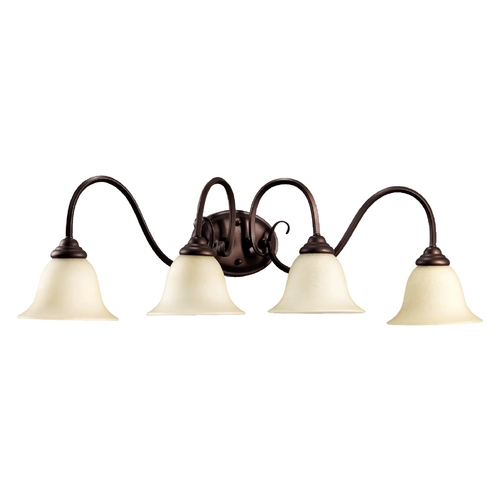 Quorum Lighting Quorum Lighting Spencer Oiled Bronze Bathroom Light 5110-4-86