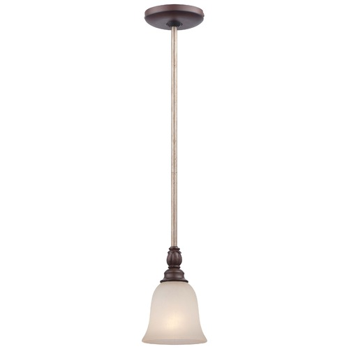 Minka Lavery Minka Gwendolyn Place Dark Rubbed Sienna Mini-Pendant Light with Bell Shade 4351-593