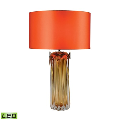 Dimond Lighting Dimond Lighting Amber LED Table Lamp with Drum Shade D2660-LED