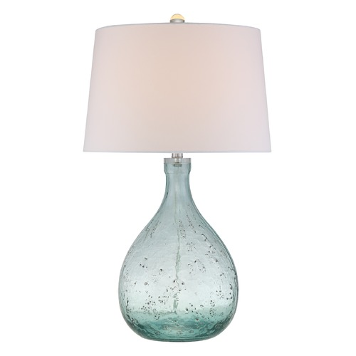 Quoizel Lighting Quoizel Lighting Quoizel Portable Lamp Blue Table Lamp with Empire Shade Q2324T