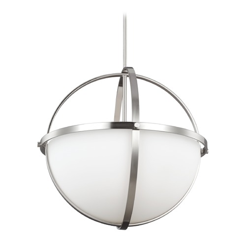 Sea Gull Lighting Sea Gull Alturas Brushed Nickel Pendant Light 6624603-962