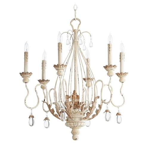 Quorum Lighting Quorum Lighting Venice Persian White Chandelier 6344-6-70