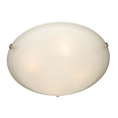 Maxim Lighting Maxim Lighting Malibu Satin Nickel Flushmount Light 2681MRSN