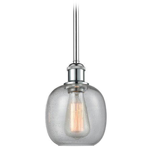 Innovations Lighting Innovations Lighting Belfast Polished Chrome Mini-Pendant Light with Globe Shade 516-1S-PC-G104