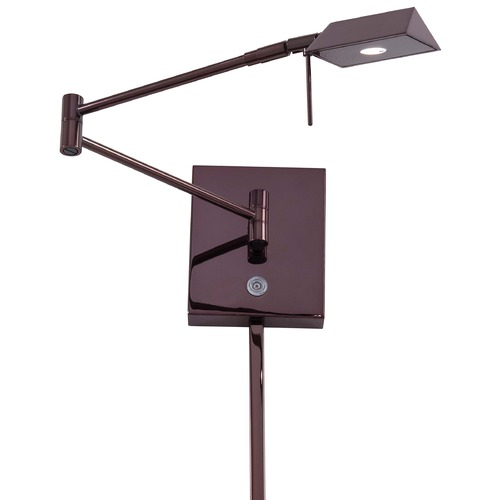 George Kovacs Lighting Modern LED Swing Arm Lamp in Chocolate Chrome Finish P4318-631