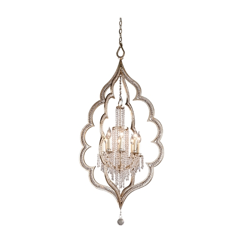 Corbett Lighting Corbett Lighting Bijoux Silver Leaf with Ant Island Light 161-48