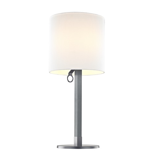 LEDs by ZEPPELIN Leds By Zeppelin May Anodized Grey LED Table Lamp with Cylindrical Shade 1750-AG / SH1750