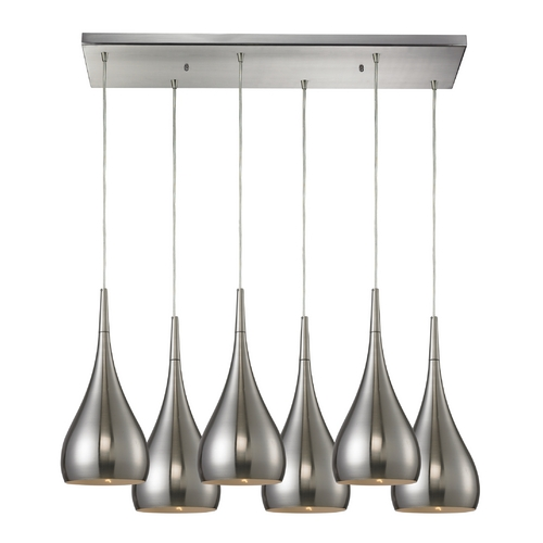 Elk Lighting Modern Multi-Light Pendant Light 6-Lights 31341/6RC-SN