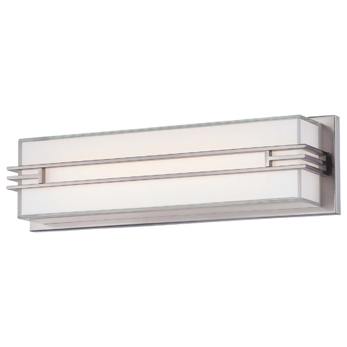 Minka Lavery Minka Level Bath Brushed Nickel LED Bathroom Light 2942-84-L