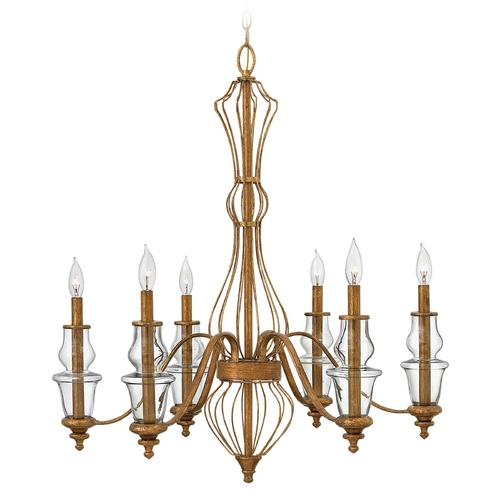 Hinkley Lighting Hinkley Lighting Celine Antique Gold Leaf Chandelier 3086GF