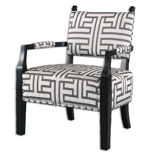 Uttermost Lighting Uttermost Terica Geometric Accent Chair 23217