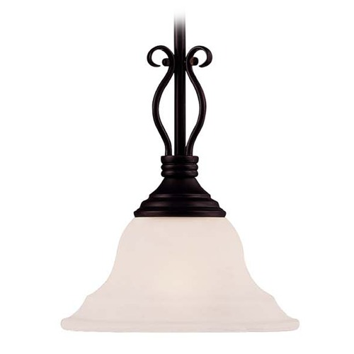 Savoy House Savoy House English Bronze Mini-Pendant Light with Bell Shade KP-SS-130-1-13
