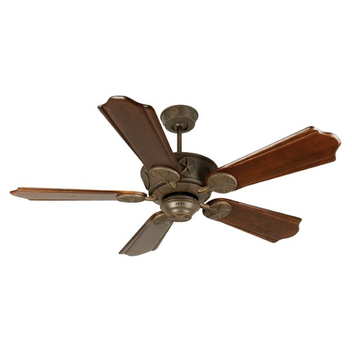 Craftmade Lighting Craftmade Lighting Chaparral Aged Bronze Textured Ceiling Fan Without Light K10872
