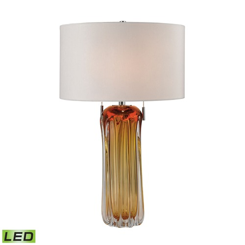 Dimond Lighting Dimond Lighting Amber LED Table Lamp with Drum Shade D2660W-LED