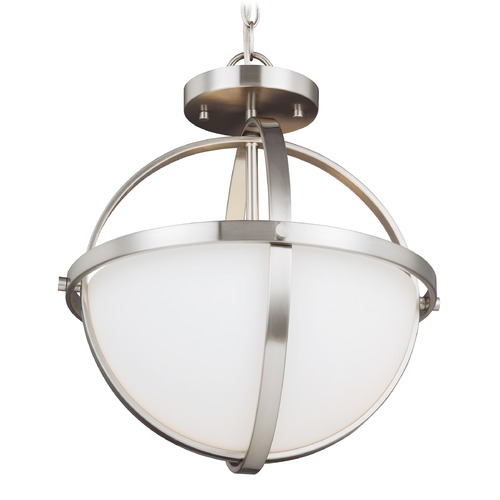 Sea Gull Lighting Sea Gull Alturas Brushed Nickel Pendant Light 7724602-962
