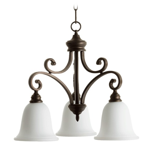 Quorum Lighting Quorum Lighting Bryant Oiled Bronze Chandelier 6354-3-186
