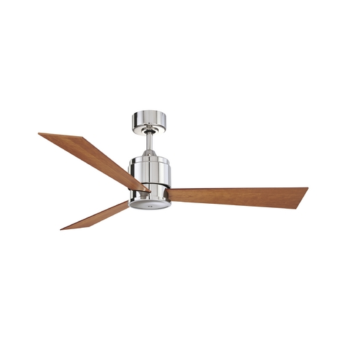 Fanimation Fans Modern Ceiling Fan Without Light in Polished Nickel Finish FP4620PN