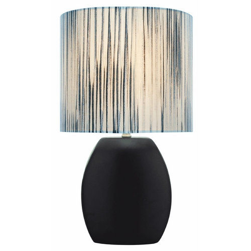 Lite Source Lighting Lite Source Lighting Reiko Black Table Lamp with Oval Shade LS-21506BLK