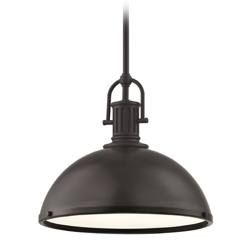 Design Classics Lighting Farmhouse Metal Pendant Light Bronze 13.38-Inch Wide 1764-220 SH1776-220 R1776-220