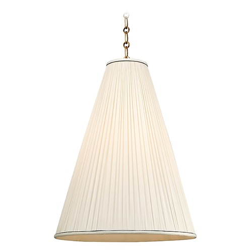 Hudson Valley Lighting Blake 1 Light Pendant Light - Aged Brass 7818-AGB-N