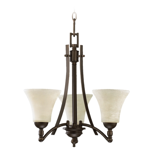 Quorum Lighting Quorum Lighting Aspen Oiled Bronze Mini-Chandelier 6177-3-86