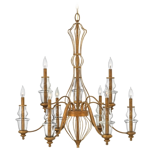 Hinkley Lighting Hinkley Lighting Celine Antique Gold Leaf Chandelier 3088GF