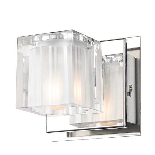 Golden Lighting Golden Lighting Block Chrome Sconce C143-01-CH