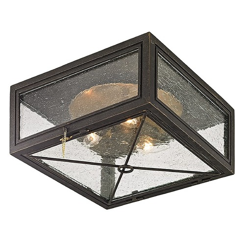 Troy Lighting Troy Lighting Randolph Vintage Bronze with Brass Close To Ceiling Light C6440