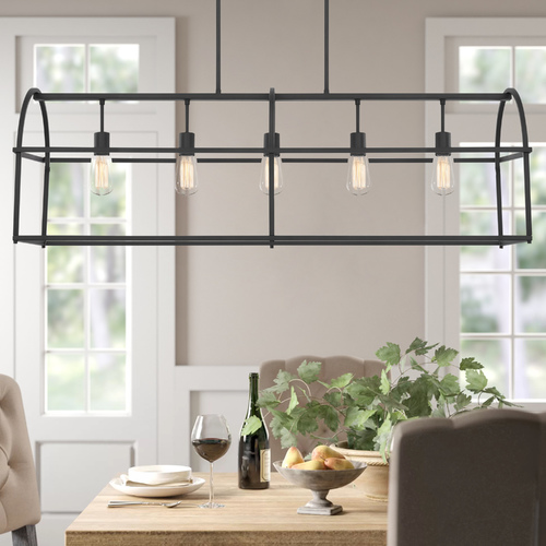 HomePlace by Capital Lighting Homeplace By Capital Lighting Matte Black Island Light 825751MB