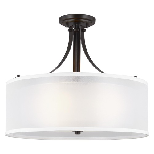 Sea Gull Lighting Sea Gull Lighting Elmwood Park Heirloom Bronze LED Semi-Flushmount Light 7737303EN3-782