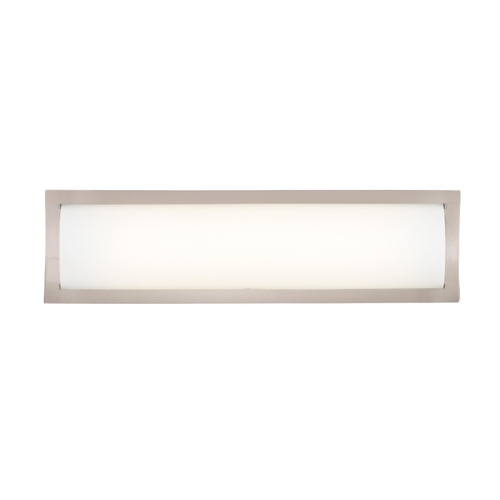 Philips Lighting Modern Bathroom Light with White Glass in Satin Nickel Finish F353036U