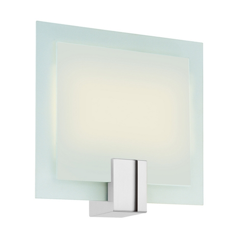 Sonneman Lighting Modern Sconce Wall Light with White Glass in Polished Chrome Finish 3682.01F