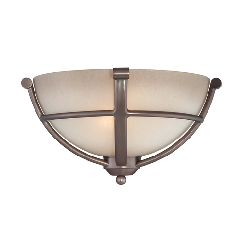 Minka Lavery Sconce Wall Light in Harvard Court Bronze Finish - French Scavo Glass 1420-281